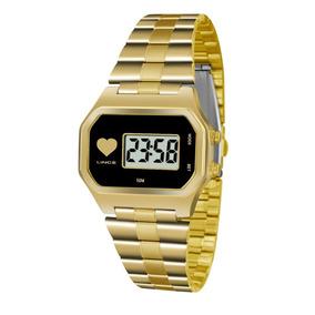 be73f0257d9 Relogio Digital Quadrado Dourado - Relógios no Mercado Livre Brasil