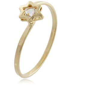 6a786b4c15 Anel Falange Estrela Folheado Ouro 18k - Imperdível