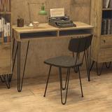 Escritorio Vintage Rustico 1.10cm Lie110 Industrial Dielfe