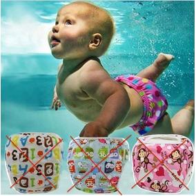 Trajes De Baño Para Bebés Forma De Pañal Impermeables