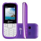 Celular Lenoxx 2 Chips Fm/mp3 Bluet Branco/lilás Cx903bl
