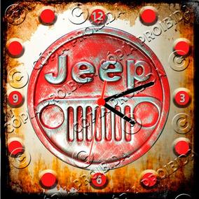 1f23bb44059 Relógio Vintage King Mdf 27x27 Jeep Cloqbc.0289. R  29 98