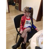 Fantasia Infantil Harley Quinn Arlequina 3 A 7 Anos