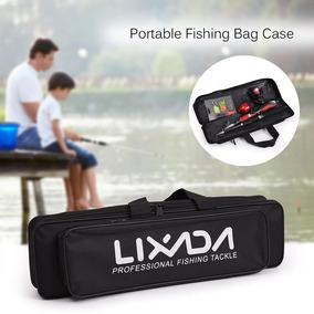 714188bed Lixada Portátil Pesca Bolsa Caso Caña De Pesca Y Carrete D