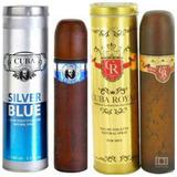 Kit 2un Perfume Cuba 100ml Silverblue + Royal Originais 33cb9104f3a