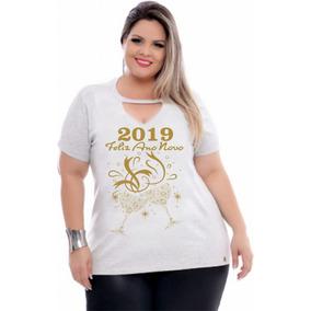 Kit Com 10 Peças Blusa Feminina Moda Grande Plus Size