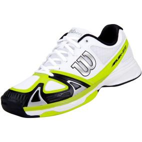 Tenis Wilson Rush Evo Branco E Verde Limão