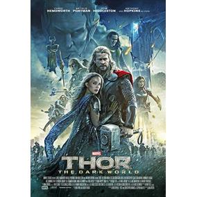 Cartaz Poster Decoração Thor Mundo Sombrio Pintura Digital