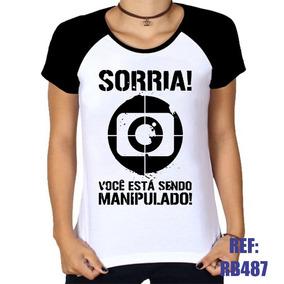 Camiseta Sorria Vc Est Sendo Manipulado - Camisetas e Blusas no ... 883d93813fc