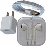 Combo Audifonos/cable/adaptador Iphone 4 5 5s 6 6s 6plus
