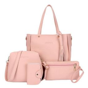 Bolsas Baratas - Bolsa de Couro Sintético Femininas Rosa no Mercado ... 7256a01e790