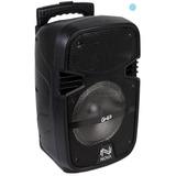 Bafle Amplificado Bocina 8 Ghia 3,200w Sd Luces Led Casa