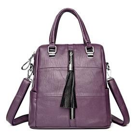 3757030c570 Bolsos Con Tachas Tipo Mochila De Cuero - Equipaje y Bolsas Violeta ...