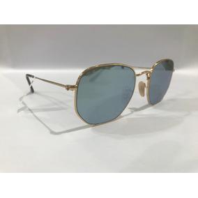 3a43df212f9de Oculos Rayban Sextavado - Óculos De Sol Sem lente polarizada no ...