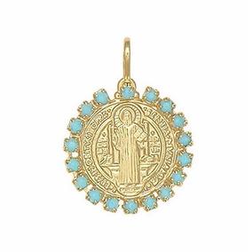 102c03be2cb8d Medalha De Sao Bento Ouro Pingentes Pedras Joias Relogios ...