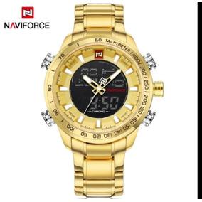 Relógio Naviforce Masculino Aço Dourado Com Dourado