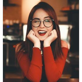 0d6b642802e31 Óculos Redondo Lente Clara Sem Grau Feminino Round Dia Noite