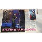 Nota De Revista De Luis Miguel En San Pablo Show