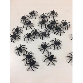 Mini Aranha De Plástico Para Lembrancinha Pct 50 Unidades