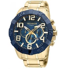 7e7b9f7aef4d4 Relógio Technos Masculino Social Legacy Prata Com Azul Os20 ...