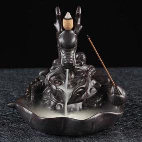 Incensário Dragão Guardião Cascata De Fumaça + 5 Cones