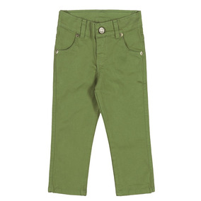 Calça Infantil Colorittá Em Sarja Com Elastano Menino 2 E 3