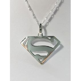 Dije De Superman Plata Ley .925 Incluye Cadena