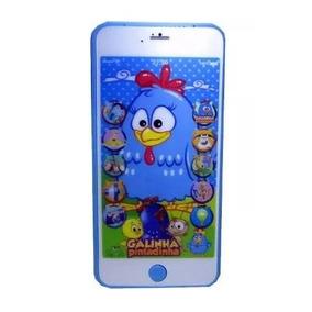 Celular Infantil Iphone Galinha Pintadinha 3d Educativo