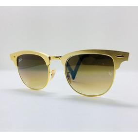Ray Ban Clubmaster Aluminum Prata dourado De Sol - Óculos no Mercado ... 74e7f1fbd4