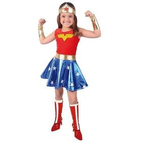 Disfraz Disfraces Mujer Maravilla,niña Maravilla Carnavalito