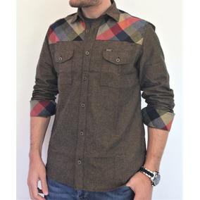 95dca3ef350 Camisas Xadrez Masculina - Camisa Masculino Marrom no Mercado Livre ...