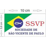 100 Adesivos Ssvp Sociedade São Vicente De Paulo