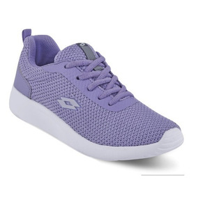 Dtt Tenis Sneaker Lotto Niñas Memory Foam Textil Lila 80536