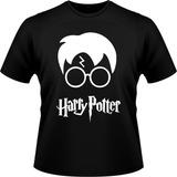 Camiseta Preta Harry Potter Hogwarts Reliquias Da Morte