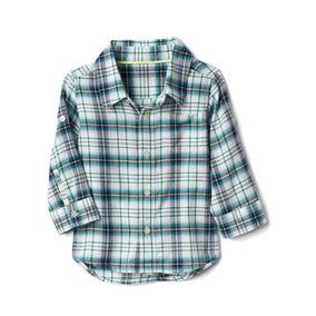 Camisa Gap A Cuadros Convertible De Franela Bebe Original