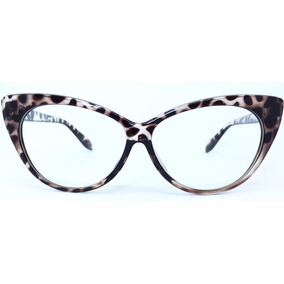 Armacao Oculos Feminino Gatinho Leopardo - Óculos no Mercado Livre ... a18a2343d2