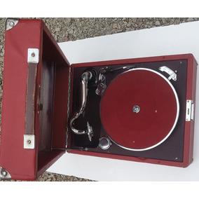 Gramofone Antigo Marca Pollard Movido A Corda 1928