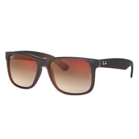 2ab324f84f645 Óculos Sol Ray Ban Justin Rb4165 Marrom Unissex Polarizado