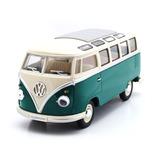 Verde Volkswagen Kombi Clásica 1962 Escala 1:24 Colección