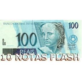 10 Burning Money - Notas Flash 100 Reais