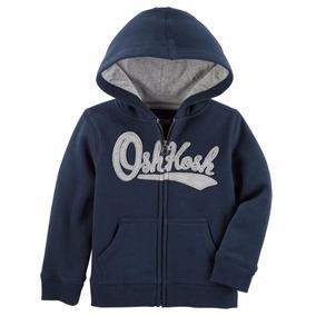 Oshkosh - Polera Con Capucha - Azul - Para Niño- Talla : 4t