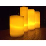 12 Velas Cirios Luz Led Ámbar Blancas Colores Aromáticas