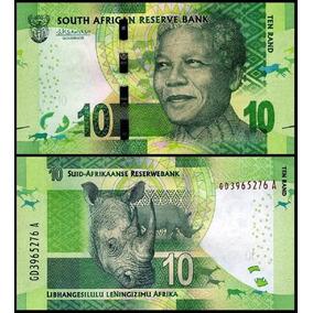 Cédula África Do Sul 10 Rand Nelson Mandela Fe