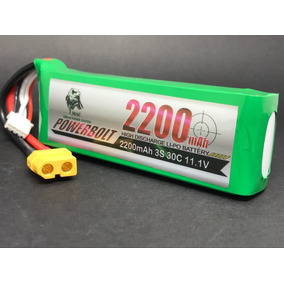Bateria Lipo 2200 3s 11.1v 30c Xt60 C/ Nota Fiscal Garantia