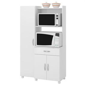 Armário Balcão De Cozinha 3 Portas Branco Multimóveis 4080