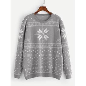 Suéter Con Estampado Geométrico De Navidad