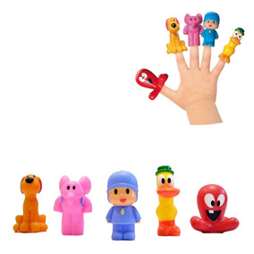 5 Miniaturas Pocoyo Dedoche - Cardoso Toys