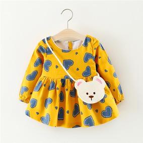 Ropita Vestido Casual Moda Para Niña Lindo Ropa Para Bebe 614fb527b8ed