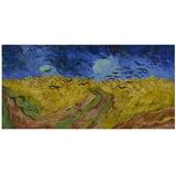 Poster Grande Hd Van Gogh 75x150cm Campos De Trigo C/ Corvos