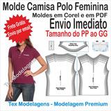304157c79a Moldes Para Camisa Polo Feminina no Mercado Livre Brasil